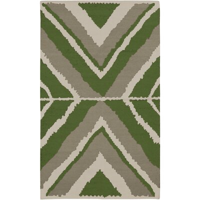 Alameda Hand woven Gray/Green Area Rug Rug Size: Rectangle 2 x 3
