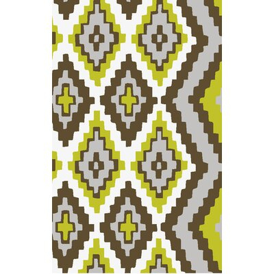 Alameda Hand woven Brown/Green Area Rug Rug Size: Rectangle 5 x 8