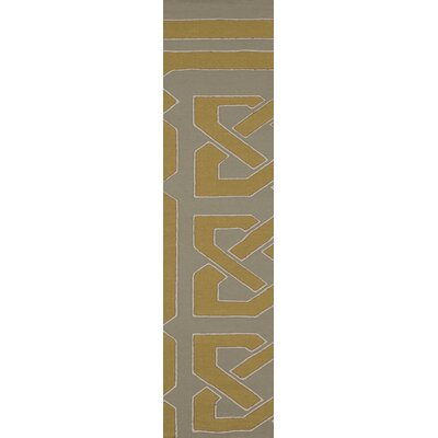 Alameda Hand woven Gray/Dark Yellow Area Rug Rug Size: Runner 26 x 8