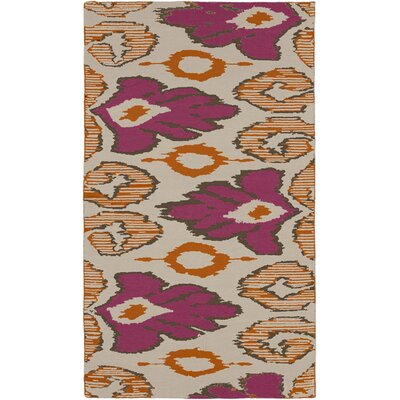 Alameda Hand woven Pink/Tan Area Rug Rug Size: Rectangle 8 x 11