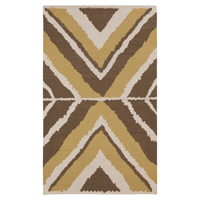 Alameda Hand woven Ivory/Brown Area Rug Rug Size: Rectangle 33 x 53
