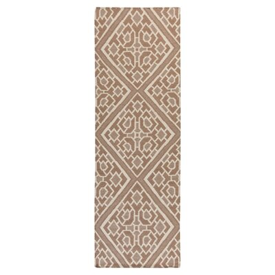 Alameda Hand woven Brown/Tan Area Rug Rug Size: Runner 26 x 8
