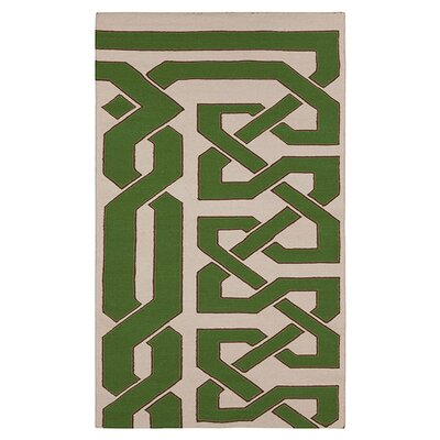 Alameda Green & Ivory Area Rug Rug Size: Rectangle 2 x 3