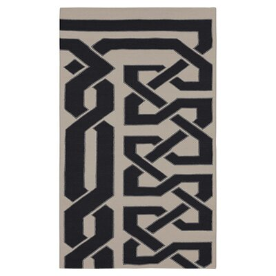Alameda Hand woven White/Black Area Rug Rug Size: Rectangle 33 x 53