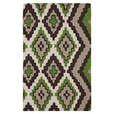 Alameda Black & Green Area Rug Rug Size: Rectangle 33 x 53