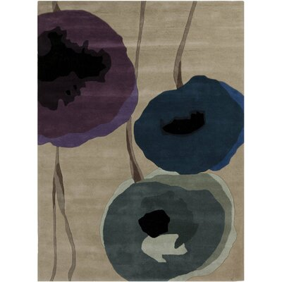Olive Brown Area Rug Rug Size: Rectangle 2' x 3'