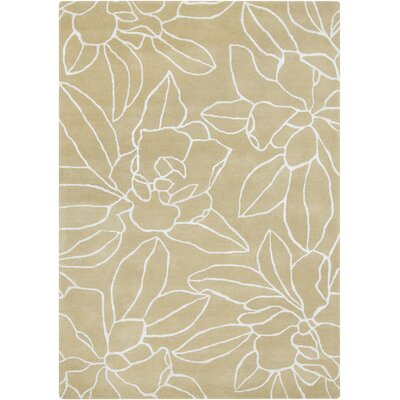 Sanderson Hand-Tufted Beige Area Rug Rug Size: Rectangle 5 x 8