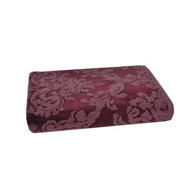 Riverside Jacquard Damask Bath Towel Color: Fig