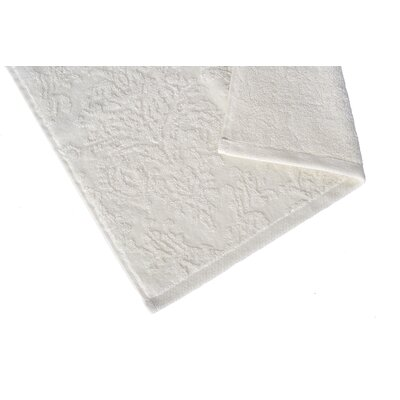 Riverside Jacquard Damask Washcloth Color: Oyster