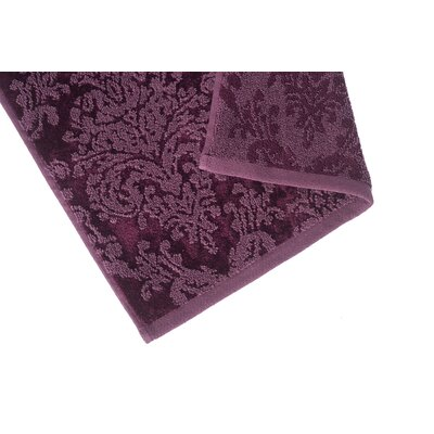Riverside Jacquard Damask Washcloth Color: Fig