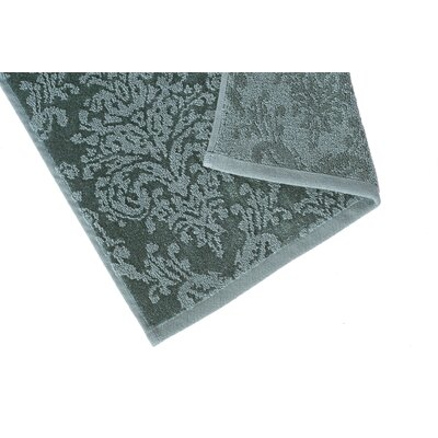 Riverside Jacquard Damask Hand Towel Color: Blue