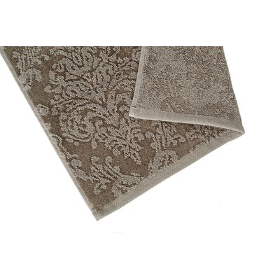 Riverside Jacquard Damask Hand Towel Color: Pebble