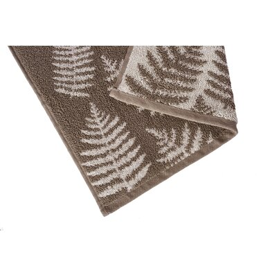 Fern Jacquard Washcloth Color: Pebble