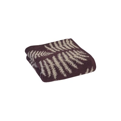 Fern Jacquard Hand Towel Color: Fig