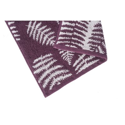 Fern Jacquard Washcloth Color: Fig