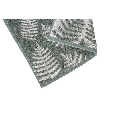 Fern Jacquard Washcloth Color: Blue