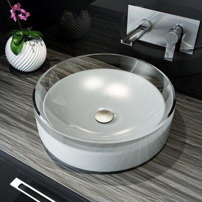 Meli Circular Polymer Circular Vessel Bathroom Sink Sink Finish: White