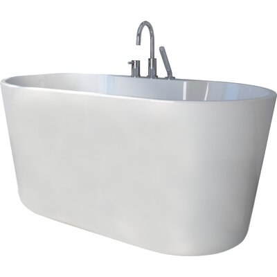 56 x 31.5 Freestanding Soaking Bathtub