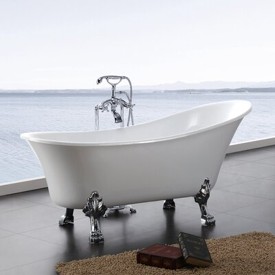 Dorya 69 x 28 Freestanding Soaking Bathtub