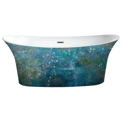 Cyclone 66 x 31.75 Freestanding Soaking Bathtub