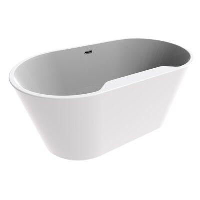 56 x 27.5 Freestanding Soaking Bathtub
