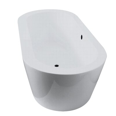 Una 69.3 x 24.8 Freestanding Soaking Bathtub