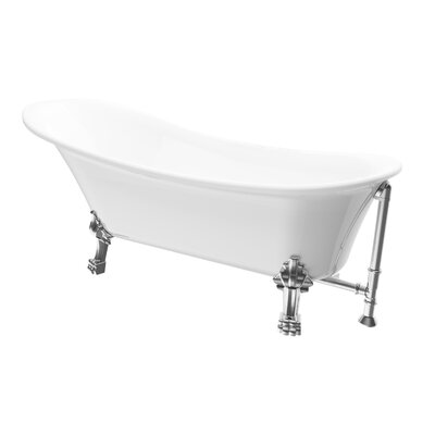 Dorya 69.25 x 28 Freestanding Soaking Bathtub