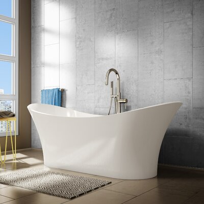 Evita 69 x 27 Freestanding Soaking Bathtub