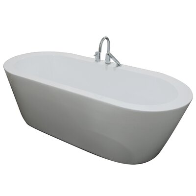 Una 71 x 34 Freestanding Soaking Bathtub