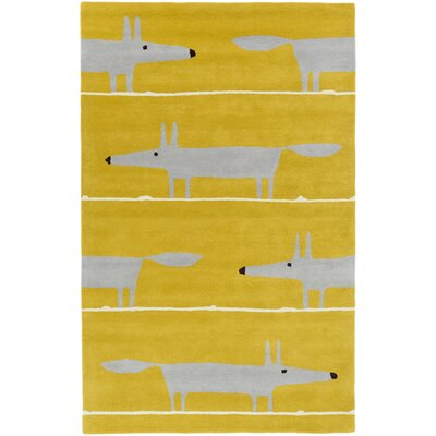 Scion Hand-Tufted Gold Area Rug Rug Size: 5 x 8