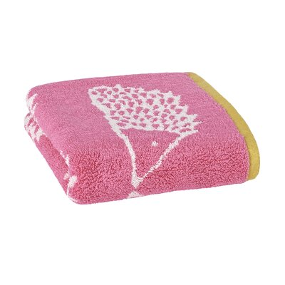 Spike Jacquard Hand Towel Color: Azalea