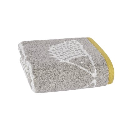 Spike Jacquard Hand Towel Color: Gray