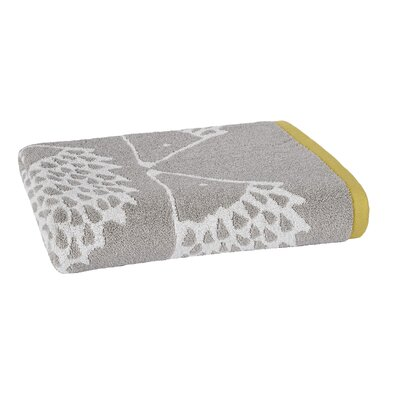 Spike Jacquard Bath Towel Color: Gray