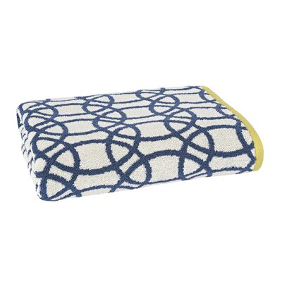 Lace Bath Towel Color: Indigo