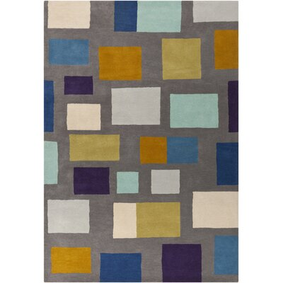 Pewter Hand Woven Wool Gray/Blue/Beige Area Rug Rug Size: Rectangle 5 x 8