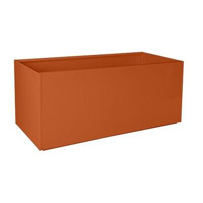 "Nice Planter Aluminum Rectangular Planter - Size: 20"" H x 46"" W x 20"" D, Color: Orange"