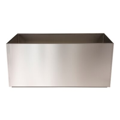 "Stainless Steel Planter Box Size: 16"" t8"