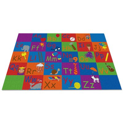 All in a Row Letter Kids Rug Rug Size: 76 x 12