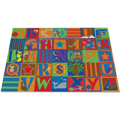 Letter Seating Kids Rug Rug Size: 6 x 86