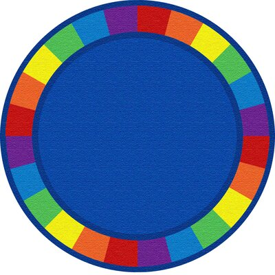 Blue Circle Area Rug Rug Size: Round 6