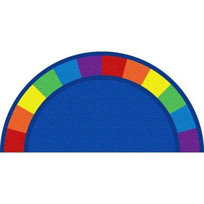 Blue Semicircle Area Rug