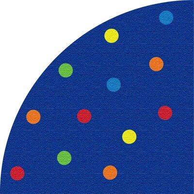 Spots Blue Corner Area Rug
