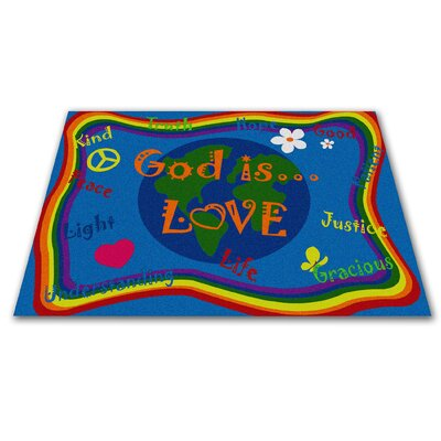 God Is Love Area Rug Rug Size: 4 x 6