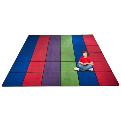 Blocks Seating Area Rug Rug Size: Square 12