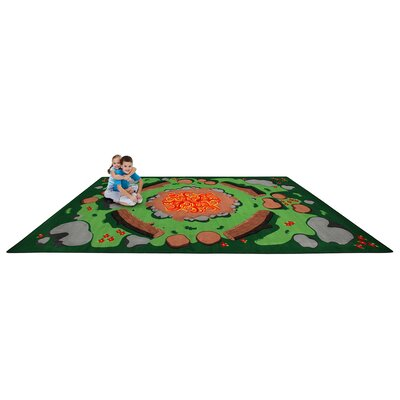 Campfire Playtime Kids Area Rug Rug Size: Rectangle 76 x 12
