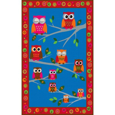 Hoot Hoot Owl Childrens Area Rug Rug Size: Rectangle 4 x 6