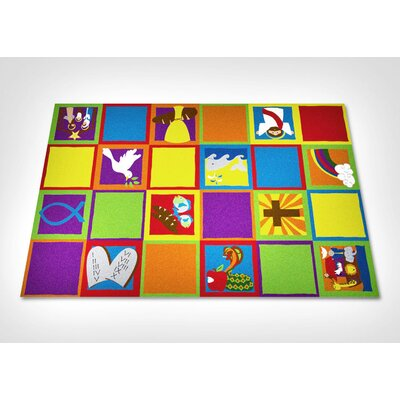 Christian Squares Sunday School Area Rug Rug Size: Rectangle 76 x 12