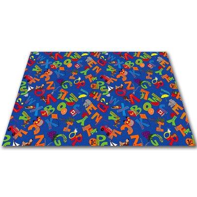 I Know My ABCs Childrens Bluei Area Rug Rug Size: Square 12