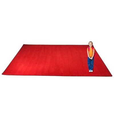 KidTastic Cherry Red Area Rug Rug Size: Square 12