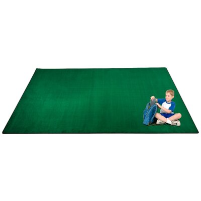 KidTastic Green Area Rug Rug Size: Rectangle 12 x 18